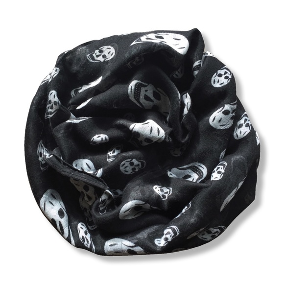 "FREE WITH PURCHASE!! Skull scarf | 21"" x 60"""